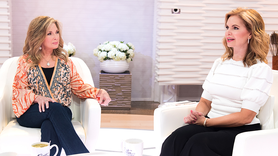 Laurie Crouch and Victoria Osteen on Better Together set